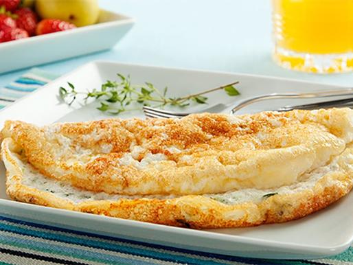 Omelete de claras e banana