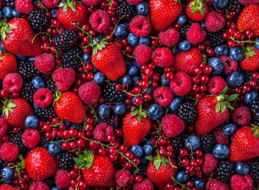 Frutos vermelhos e a sua riqueza em antioxidantes.