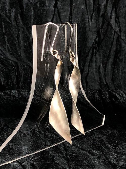 Wedge Twist dangle earrings (solid silver)