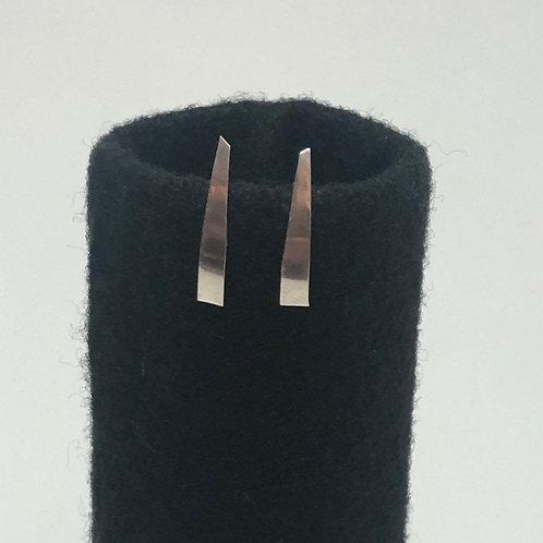 Small wedge stud earrings