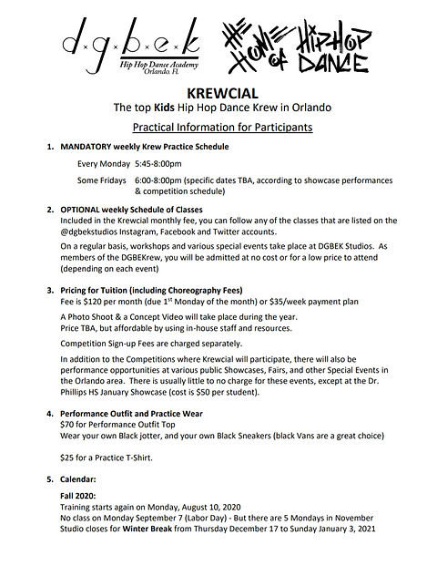 Krewcial 2020-2021 Info sheet page one.j