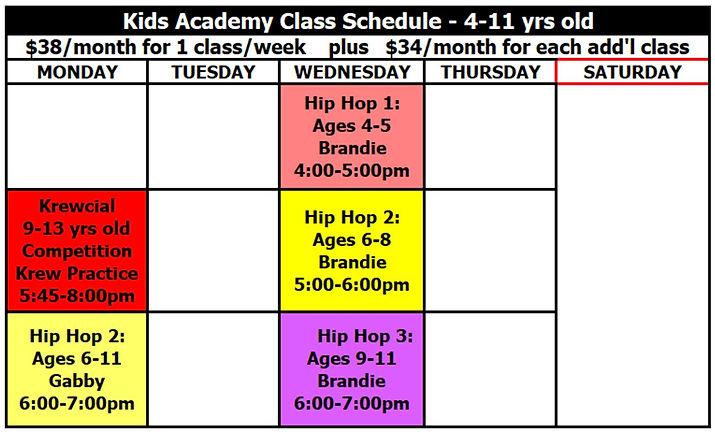 Hip Hop Academy Program KIDS - 26 Oct 20