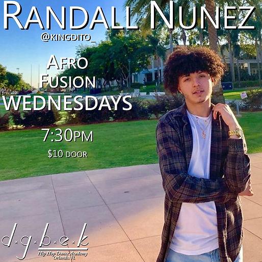 Randall Nunez Afro Fusion Wednesdays 2-1