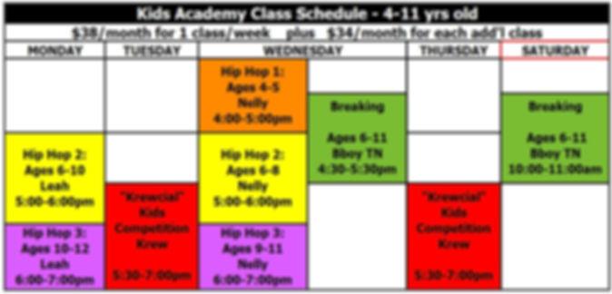 Academy class  Schedule AUG 2019.jpg