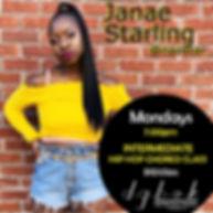 Janae Starling Mondays - 7pm INTERMEDIAT