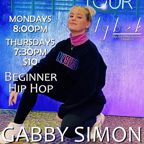 Gabby Simon Beginner Mondays & Thursdays