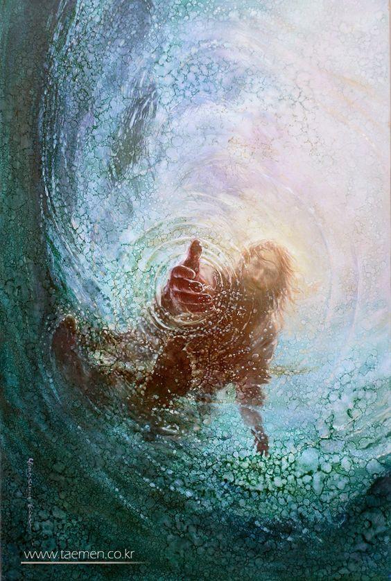 Jesus helping my doubt. Gibraltar Catholic Youth.