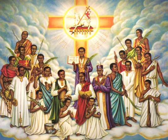 Saints Charles Lwanga and companions. Gibraltar Catholic Youth.