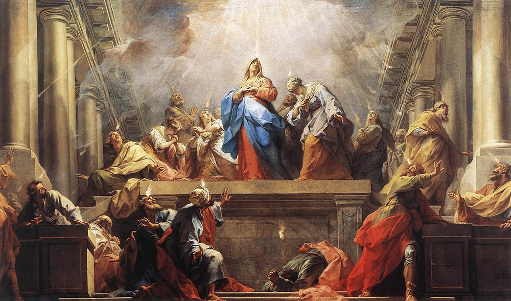 Pentecost by Jean Restout. Gibraltar Catholic Youth.