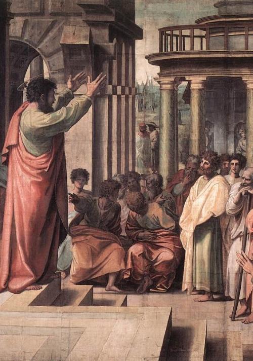 Philip preaches to the Samaritans. Gibraltar Catholic Youth.