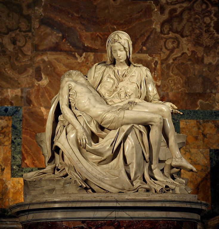 Michelangelo's Pietà in St Peter's Basilica. Gibraltar Catholic Youth.