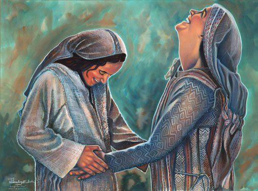 Mary and Elizabeth. Gibraltar Catholic Youth. Seeking the Word.