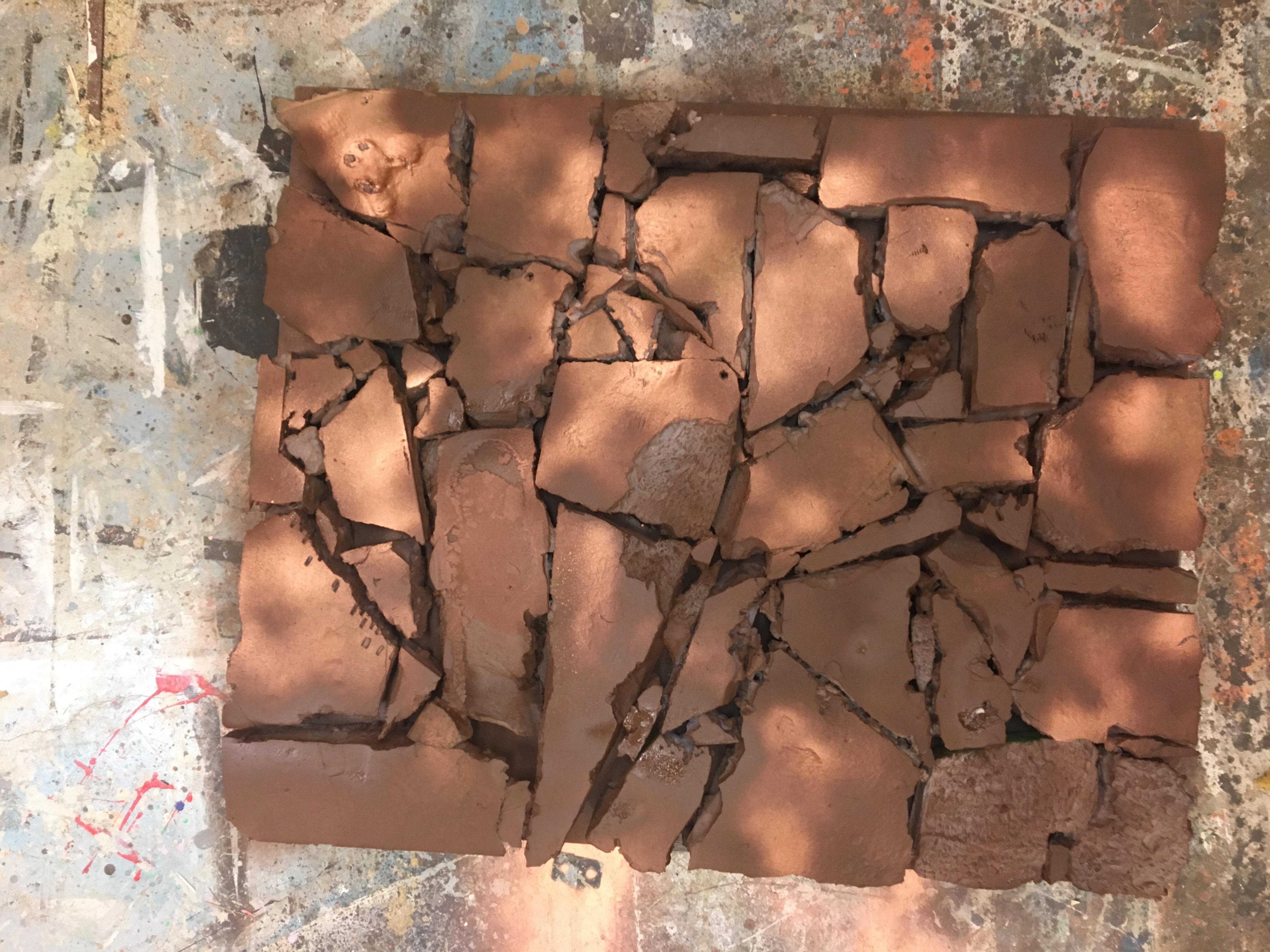 Rock Paneling- spray painted