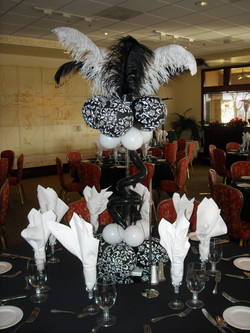Black & White Feather Centerpiece