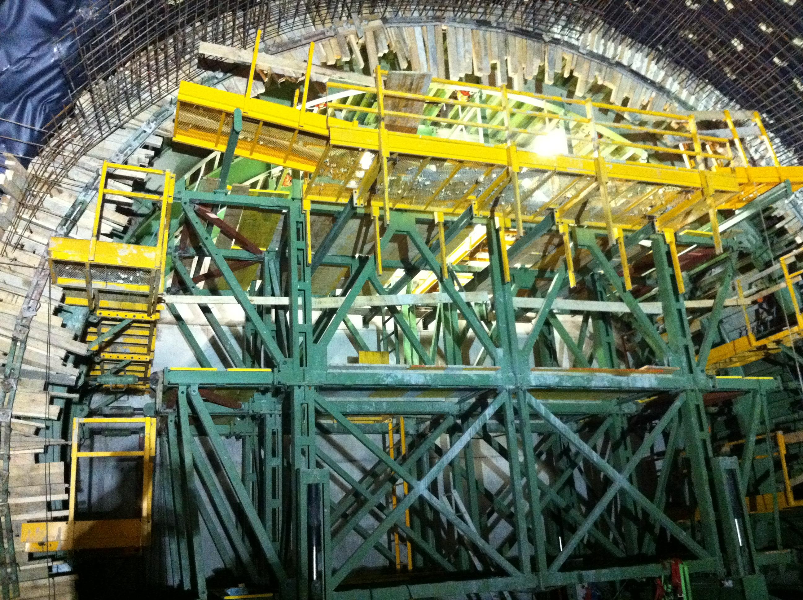 Estructura tunel metro Donostia