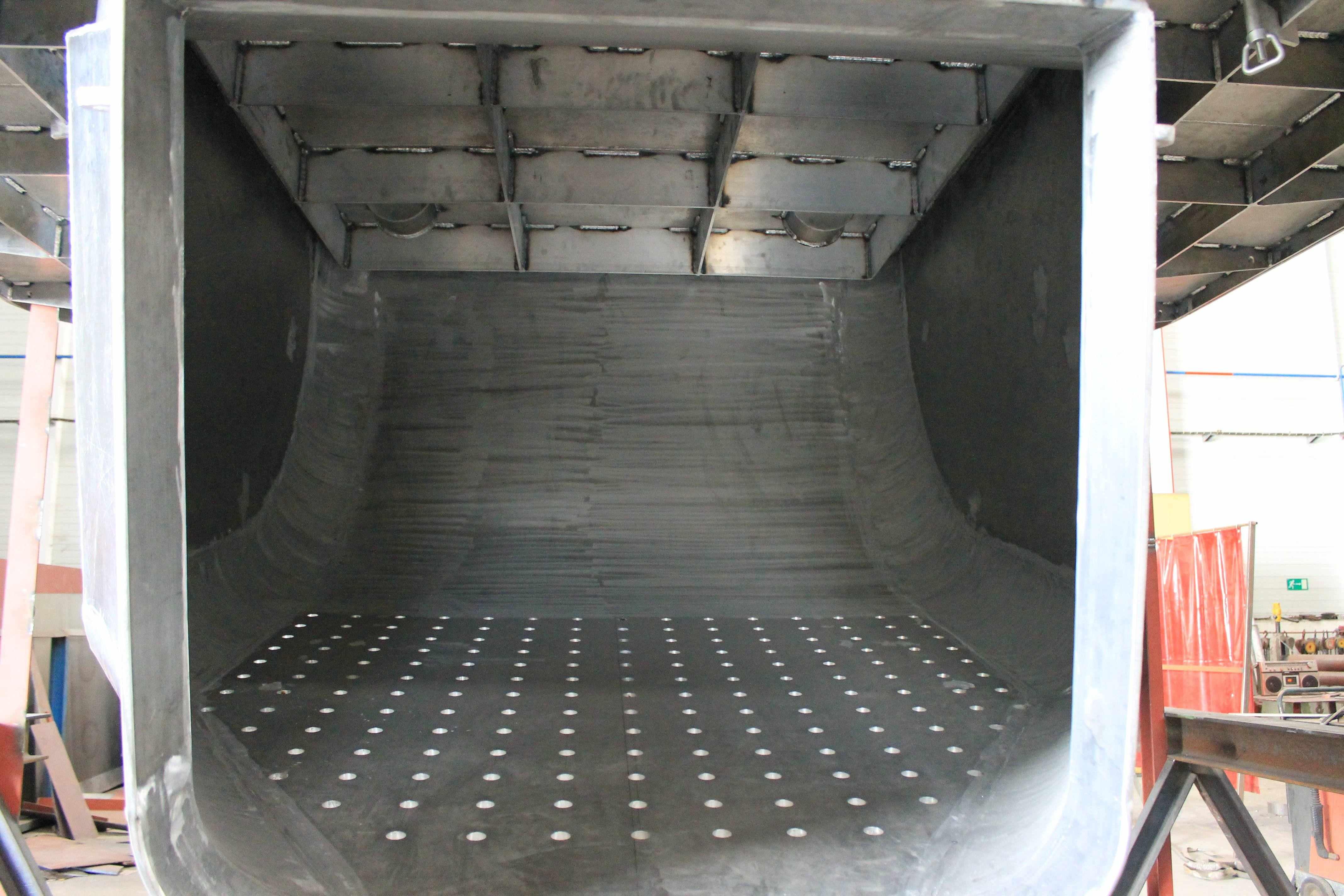 Tolva de pescado de aluminio