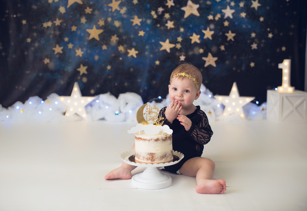 Twinkle Twinkle Little Star ~ Cake Smash Photography ~ Monticello, Somerset KY Birthday Photographer