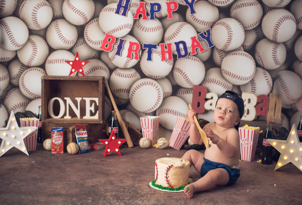 Ryker is turning one! Custom Cake Smash Session - Children's Photography Monticello, Somerset KY