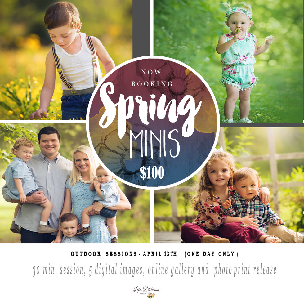 Spring Photography Special - Monticello, Albany, Somerset Kentucky