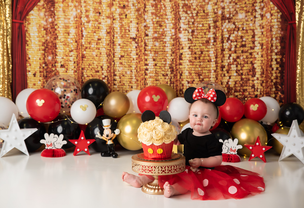 Mickey Mouse Cake Smash ~ Birthday Photography Monticello, Somerset KY