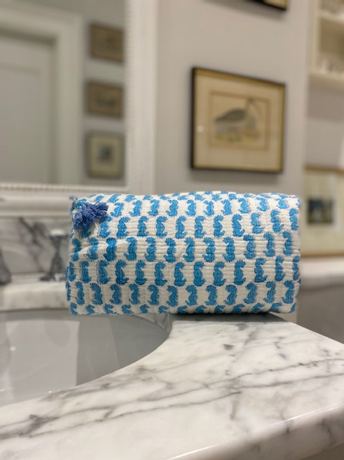 100 % cotton wash bag, toiletries, make up bag, with waterproof lining