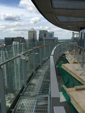 Structural Walkway And Powder coated edge protection Installed by Atlantas