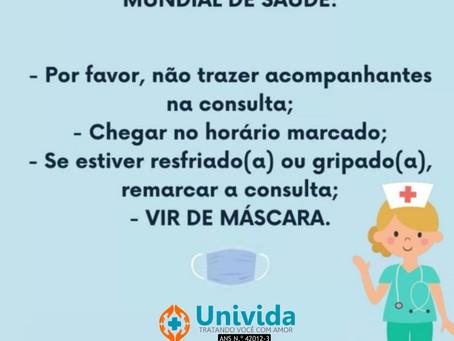 RECOMENDAÇÕES DO MINISTÉRIO DA SAÚDE - CONSULTAS