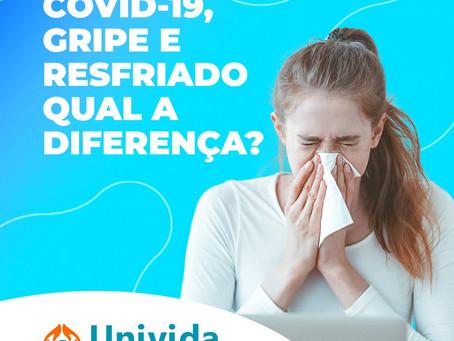 Saiba diferenciar a Covid-19 de gripes e resfriados