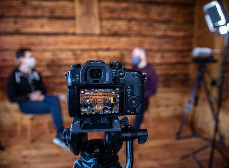 Natáčení rozhovorů v Beskydech