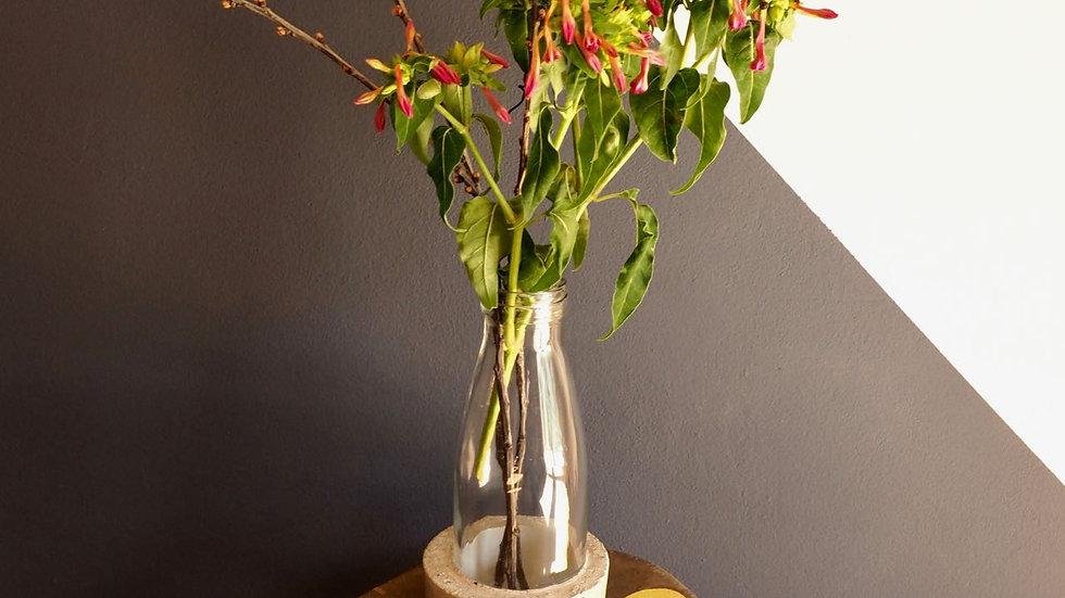 Vase LYS gris/jaune céleri