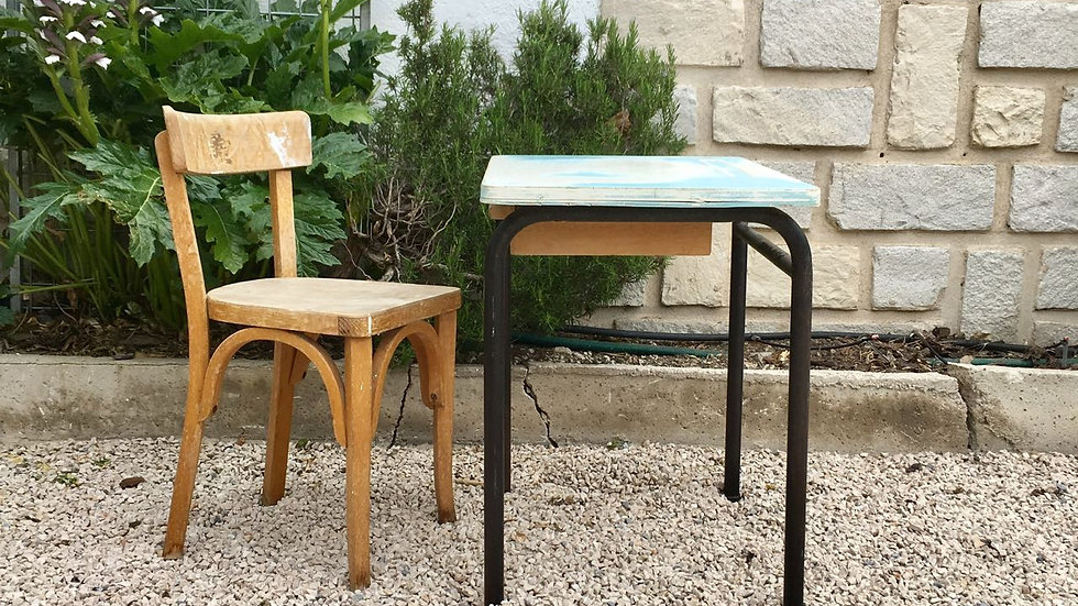Bureau écolier et chaise Baumann DIX
