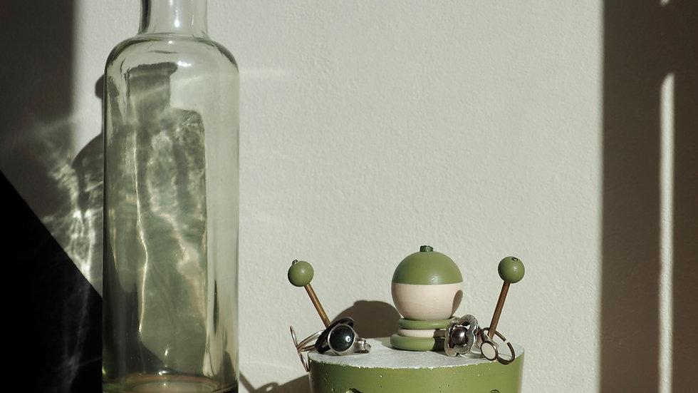Porte-bagues SAM - Vert Olive