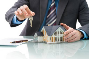 real estate broker in his virtual office