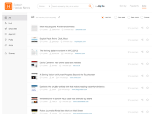 Hackernews dashboard
