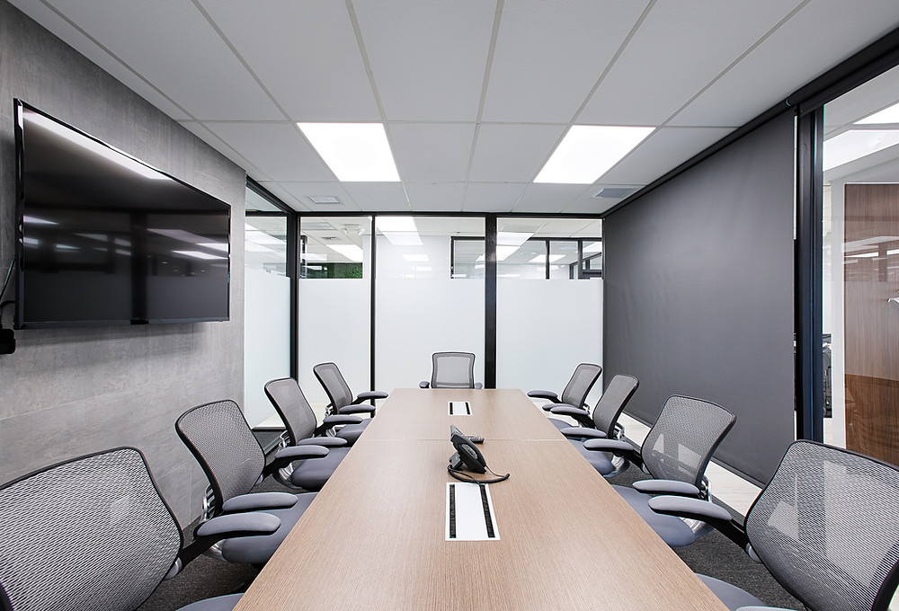 Meeting room at the 221 Building executive office space rental