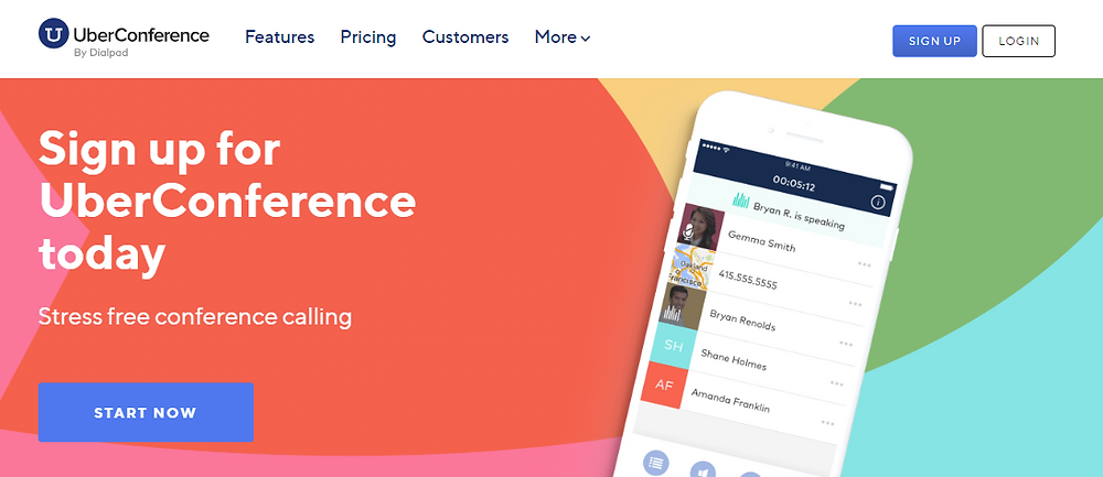 UberConference homepage