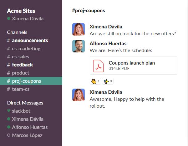 Slack application tool