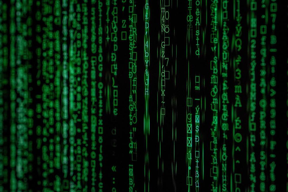 Matrix style screen to represent virtual office