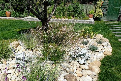 Aménagement jardin olivier - Pas japonais