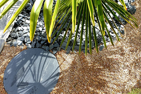 Ardoise ronde pour jardin