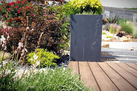 jardinière pierre bleue - jardinière en ardoise