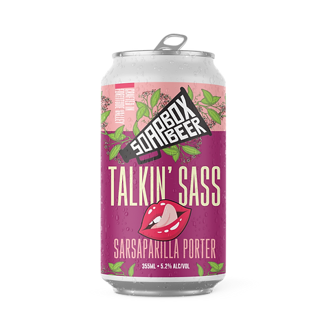 Soapbox Beer Talkin'Sass Sarsaparilla Porter Can.png