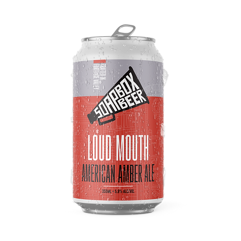 Soapbox Beer - Loud Mouth American Amber