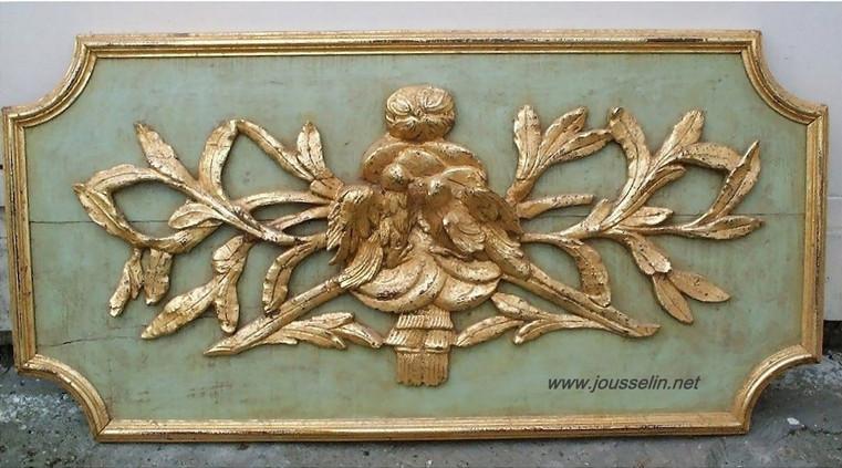 haut de porte.oiseaux.Louis XVI