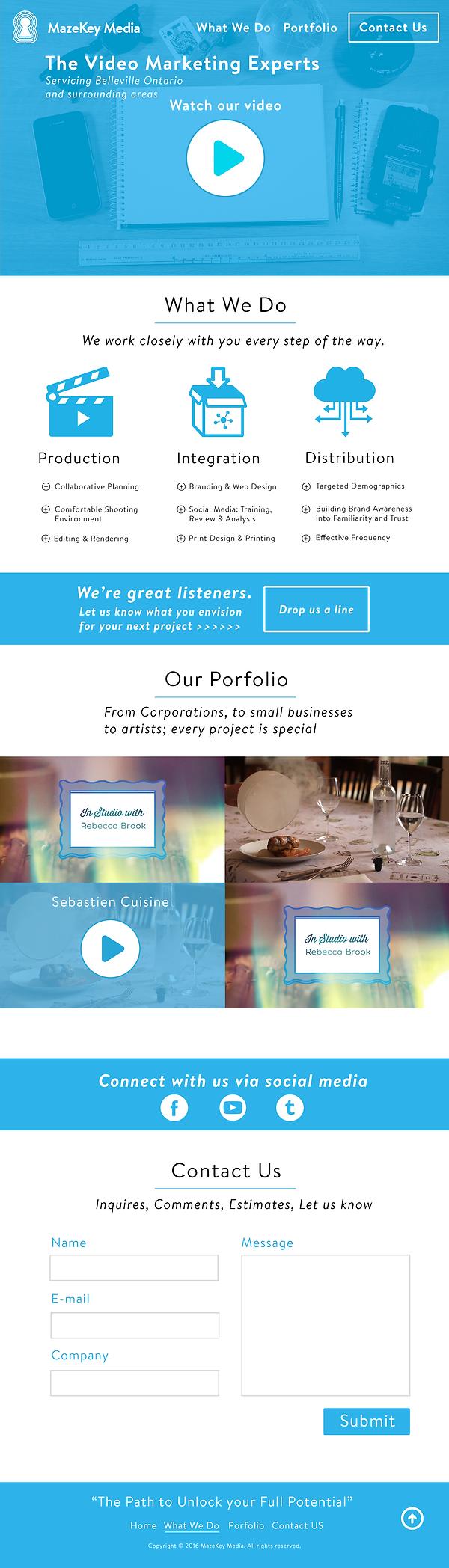 Mazekey Media Website Design 2016
