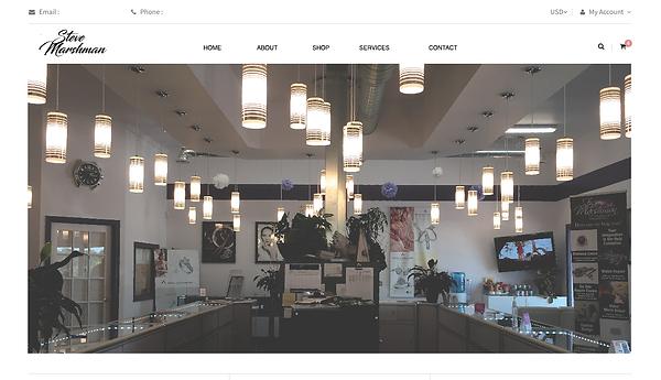 Steve Marshman Website Mockup