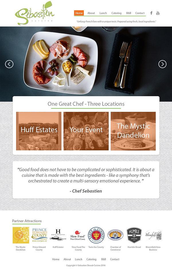 Sebastien Cuisine Website Design