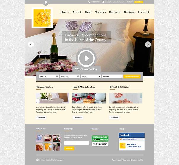 The Mystic Dandelion Website Mockup