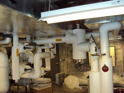 pipe & duct in mech rm