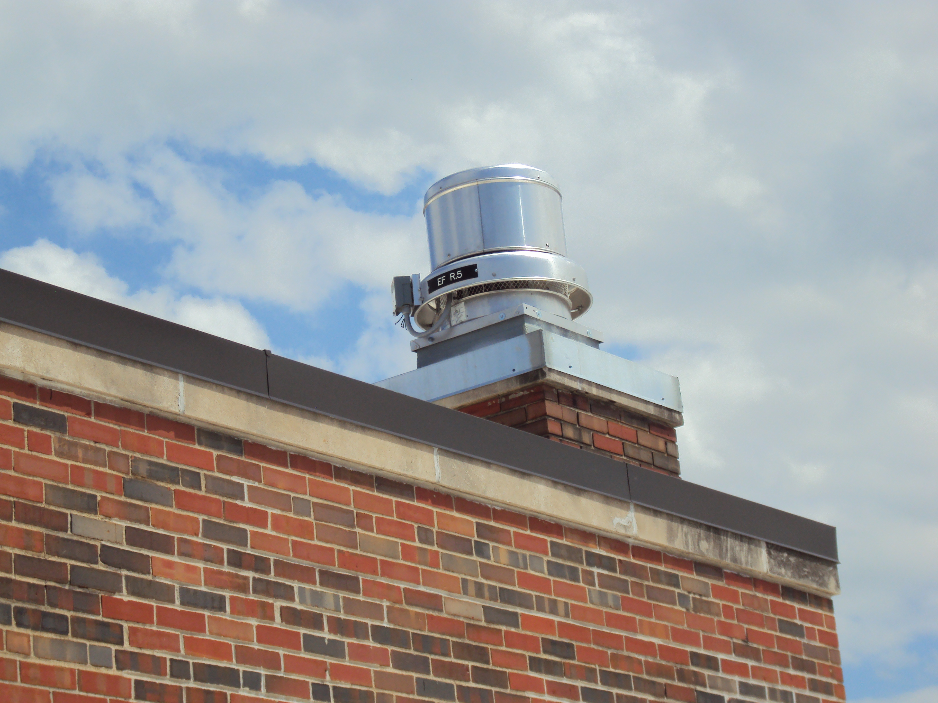 ex fan set on top of old chimney